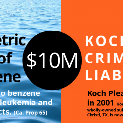 """2001 Department of Justice: """"Koch Pleads Guilty to Covering Up Environmental Violations at Texas Oil Refinery"""" and Pays $10 Million Fine"""