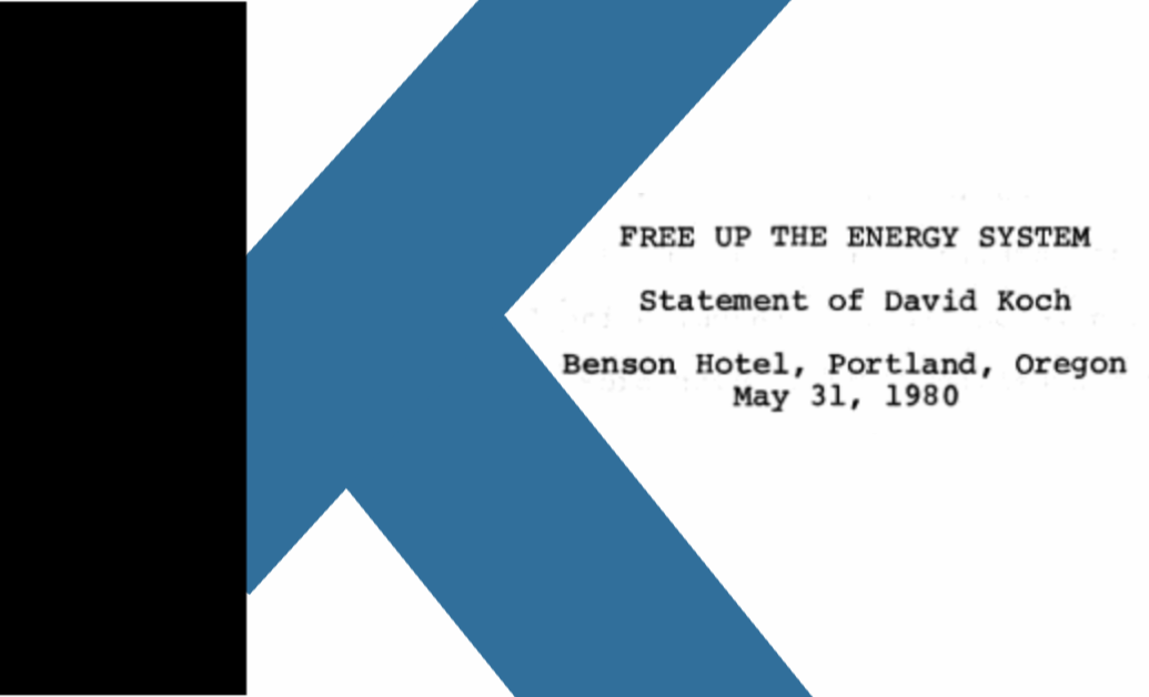 """1980 David Koch: """"Free Up the Energy System"""""""