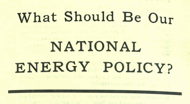 "1979 Libertarian Party on ""What Should Be Our National Energy Policy?"""