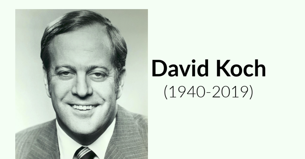 Resources for Writing about David Koch (1940-2019), including Photos