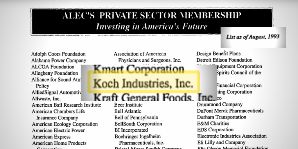 1992 ALEC Annual Report w membership roster – Koch Industries